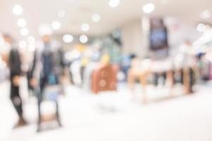 interior del centro comercial borrosa abstracta foto