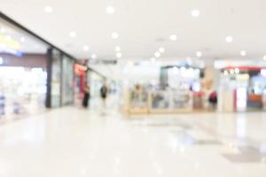 Abstract defocused shopping mall interior