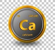 elemento químico calcio vector