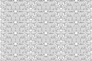 Abstract Electronic Circuit Pattern vector