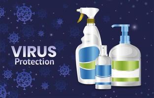 banner de protección antivirus covid 19 vector