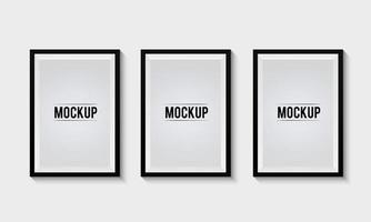 Set of Photo Frame Mockup vector