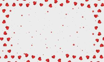 Greeting Card Background With Hearts and Stars