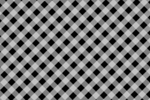 Black and White Diagonal Gingham Fabric Pattern