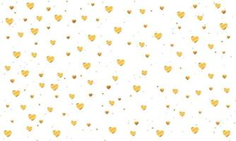 Elegant Gold Hearts Background