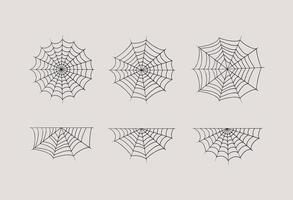halloween, telaraña, conjunto, vector, diseño vector