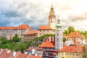 Vista del casco antiguo de la ciudad de Cesky Krumlov en República Checa foto
