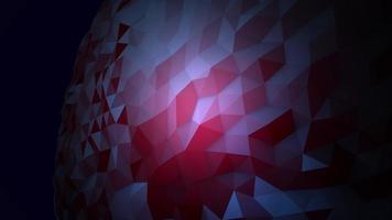 animatie abstracte blauwe vloeibare bol in kosmos, zwarte achtergrond video