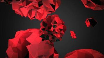 animatie abstracte rode vloeibare bol in kosmos, zwarte achtergrond video