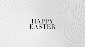 texto de animação feliz páscoa em fundo de moda e minimalismo branco com ondas brancas video