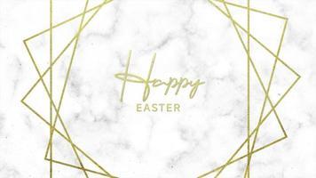 texte d'animation joyeuses pâques sur fond de mode et de minimalisme blanc avec des lignes d'or video