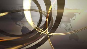 notícias intro animação gráfica em redação com linhas e formas circulares, fundo abstrato video