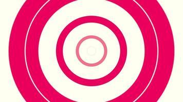 Bewegung Intro geometrische rote Spirallinien, abstrakter Hintergrund video