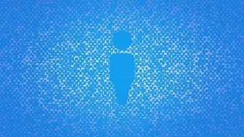 icone di persone in movimento su sfondo di rete semplice video
