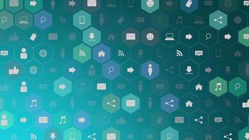 icone di rete di movimento su sfondo semplice video