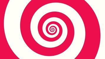 rörelse intro geometriska röda spirallinjer, abstrakt bakgrund video