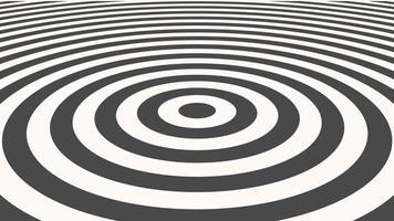 movimento introdução linhas espirais geométricas em preto e branco, fundo abstrato