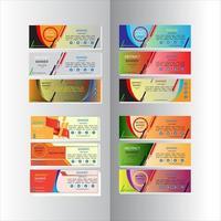 abstract design banner web template set vector