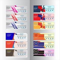 Conjunto de plantillas web de banner de diseño abstracto vector