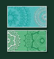 Set of banners with mandalas vector