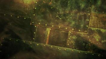filmbakgrund med former av rymdskepp och rörelsekamera video