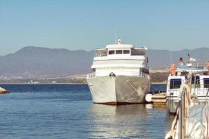 Cyprus 2016--Passenger cruise ship anchored in port