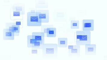 ícones de mensagem de movimento em fundo de rede simples