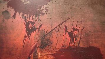 animação fundo de terror místico com sangue escuro, pano de fundo abstrato