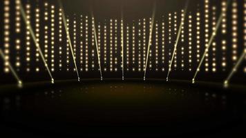 beweging gouden lichten en stadium, abstracte achtergrond