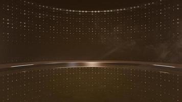 beweging gouden lichten en stadium, abstracte achtergrond video