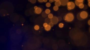 particules de bokeh abstraites tombant. bonne année, joyeux noël, joyeux anniversaire brillant video