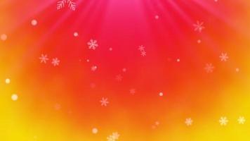 abstracte bokeh en sneeuwvlok vallen. gelukkig nieuwjaar en merry christmas glanzende achtergrond video