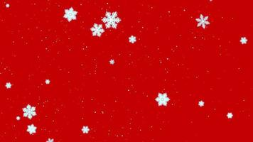weiße Schneeflocken, Sterne und abstrakte Bokehpartikel fallen. frohes neues Jahr und frohe Weihnachten