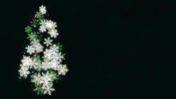 Arbre de Noël gros plan animé sur fond bleu foncé video