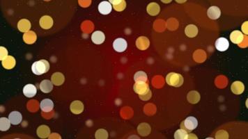 abstracte bokehdeeltjes vallen. gelukkig nieuwjaar, prettige kerstdagen, gelukkige verjaardagsdag glanzend video
