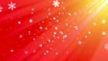 vita snöflingor, stjärnor och abstrakta bokehpartiklar faller. gott nytt år och god jul video