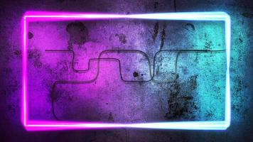 rörelse färgglada neonljus på väggen, abstrakt bakgrund