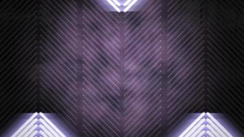 motie kleurrijke neonlichten en strepenpatroon, abstracte achtergrond video