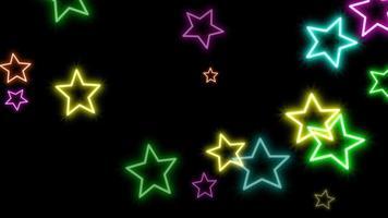movimento retro estrelas abstrato video