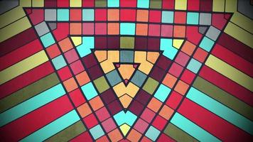Patrón de cuadrados de colores de movimiento, fondo abstracto video