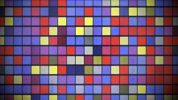 motie kleurrijke vierkanten patroon, abstracte achtergrond video