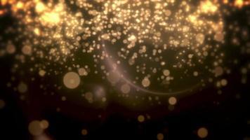 abstrakt gul bokeh och partiklar som faller. gott nytt år och glänsande jul blank bakgrund