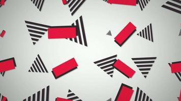 movimento retro forma geométrica abstrato