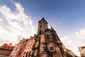 The Old Town Hall astronomical clock in Prague, Czech Republic