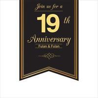 18 Year Anniversary Banner Template Design Illustration vector