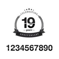 18 Year Anniversary Template Design Illustration vector
