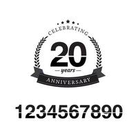 20 Year Anniversary Template Design Illustration