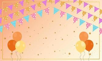 Birthday Decoration Background With Balloons