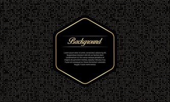 Black Luxury Background With Gold Dots