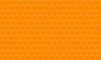 Orange Honeycomb Hexagon Pattern Background